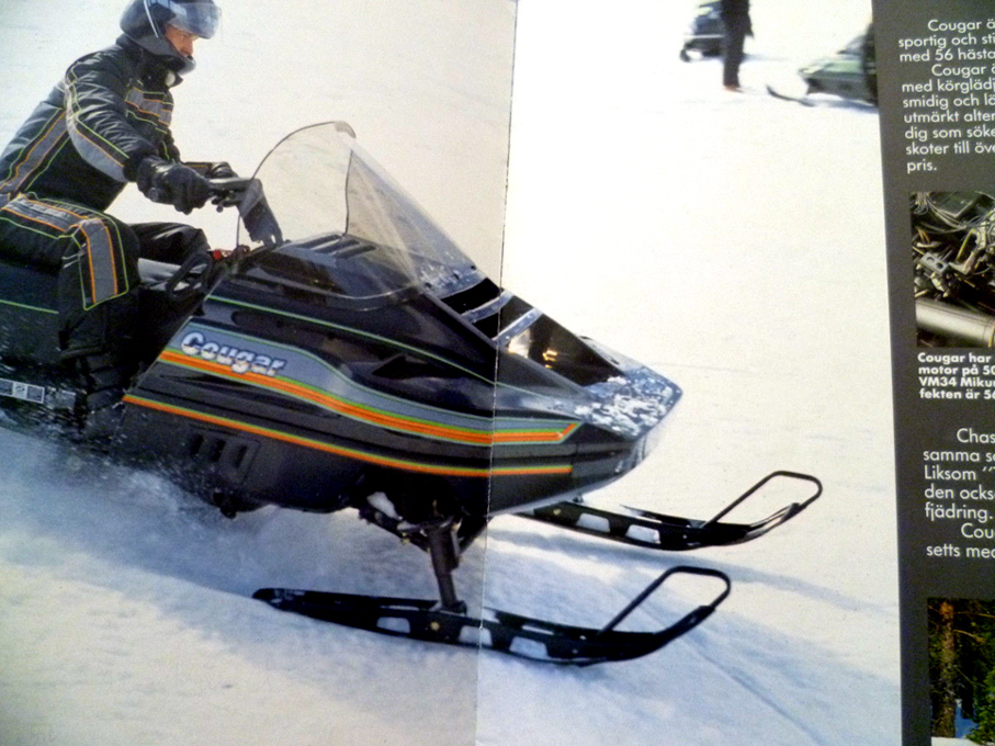 1988 ARCTIC CAT EUROPE SNOWMOBILE MODELS HERE IS PART OF THE BROCHURE