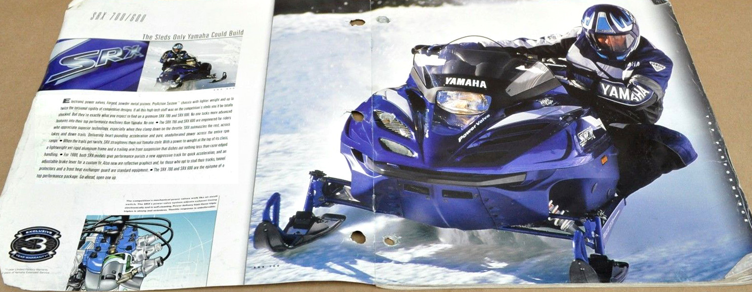 1999 YAMAHA SNOWMOBILE BROCHURE 1
