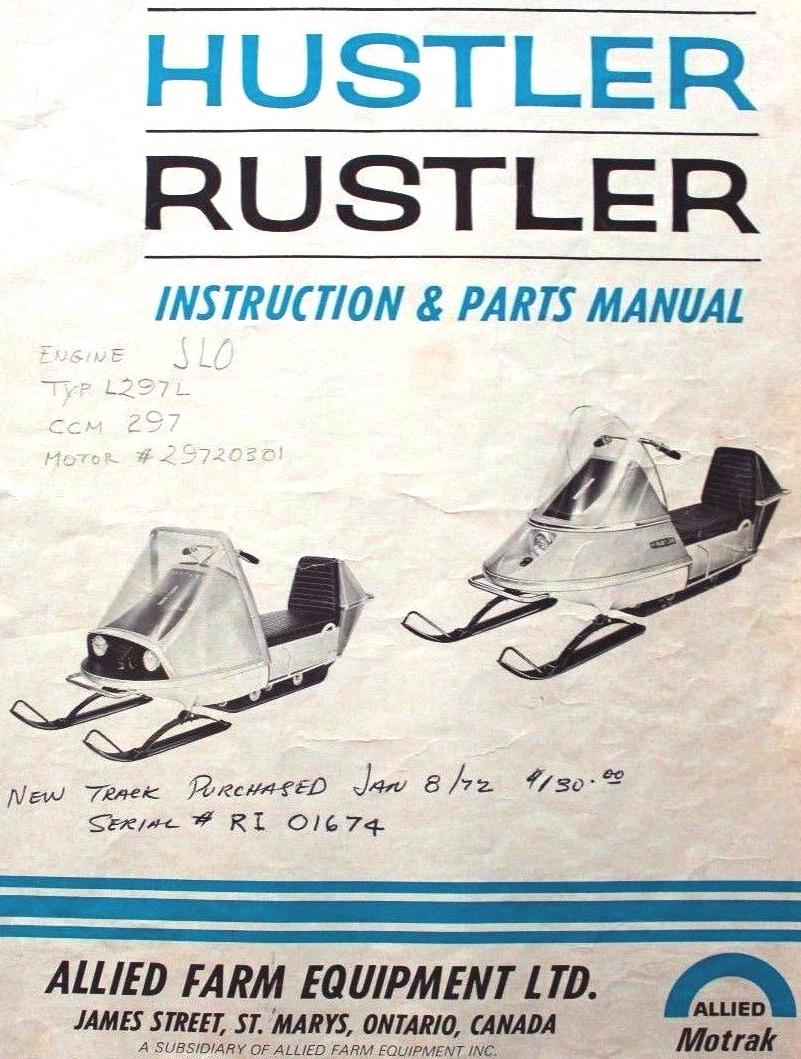 Hustler rustler snowmobile